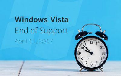 Windows Vista End of Support April 11, 2017