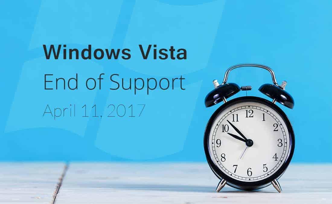 Windows Vista End of Support April 11 2017